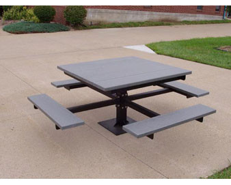 4-Ft. Square Recycled Plastic Table - ADA Model