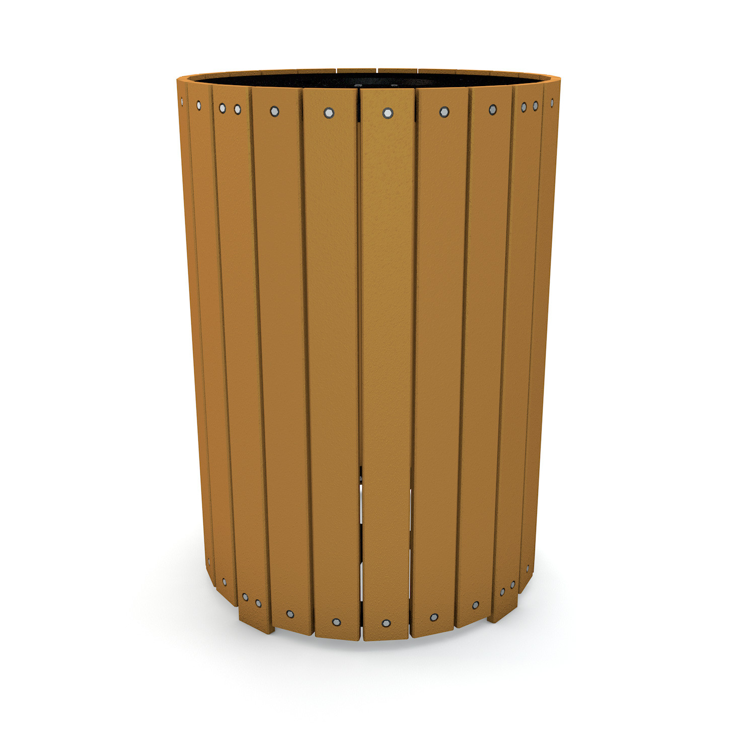 32 Gallon Recycled Plastic Trash Receptacle with Lid