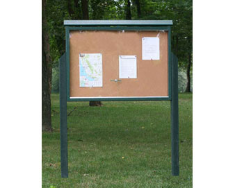 Double-Sided Large Recycled Plastic Message Center with Posts
