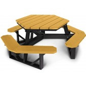 6-Ft Hexagonal Recycled Plastic Picnic Table