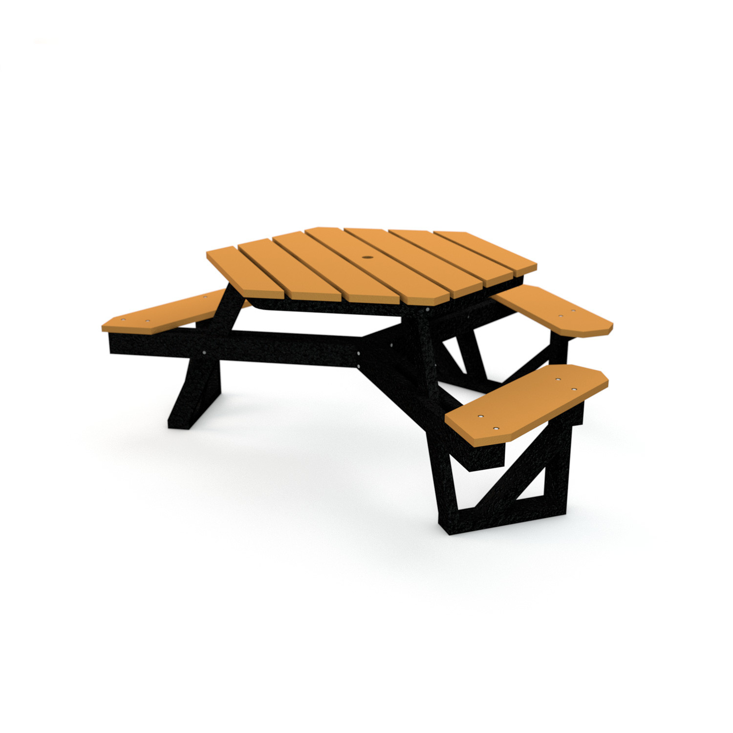 6-Ft ADA Hexagonal Picnic Table