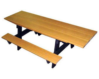 8 Ft. (8-Ft. Top, 6-Ft. seats) ADA A-Frame Recycled Plastic Picnic Table