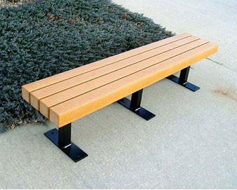 Trailside Recycled Plastic Bench