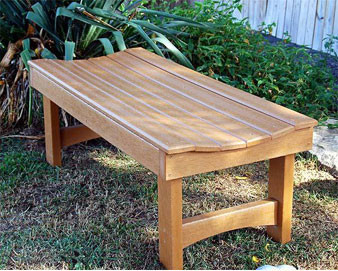Garden Recycled Plastic Bench