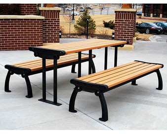6-Ft. Heritage Recycled Plastic Picnic Table