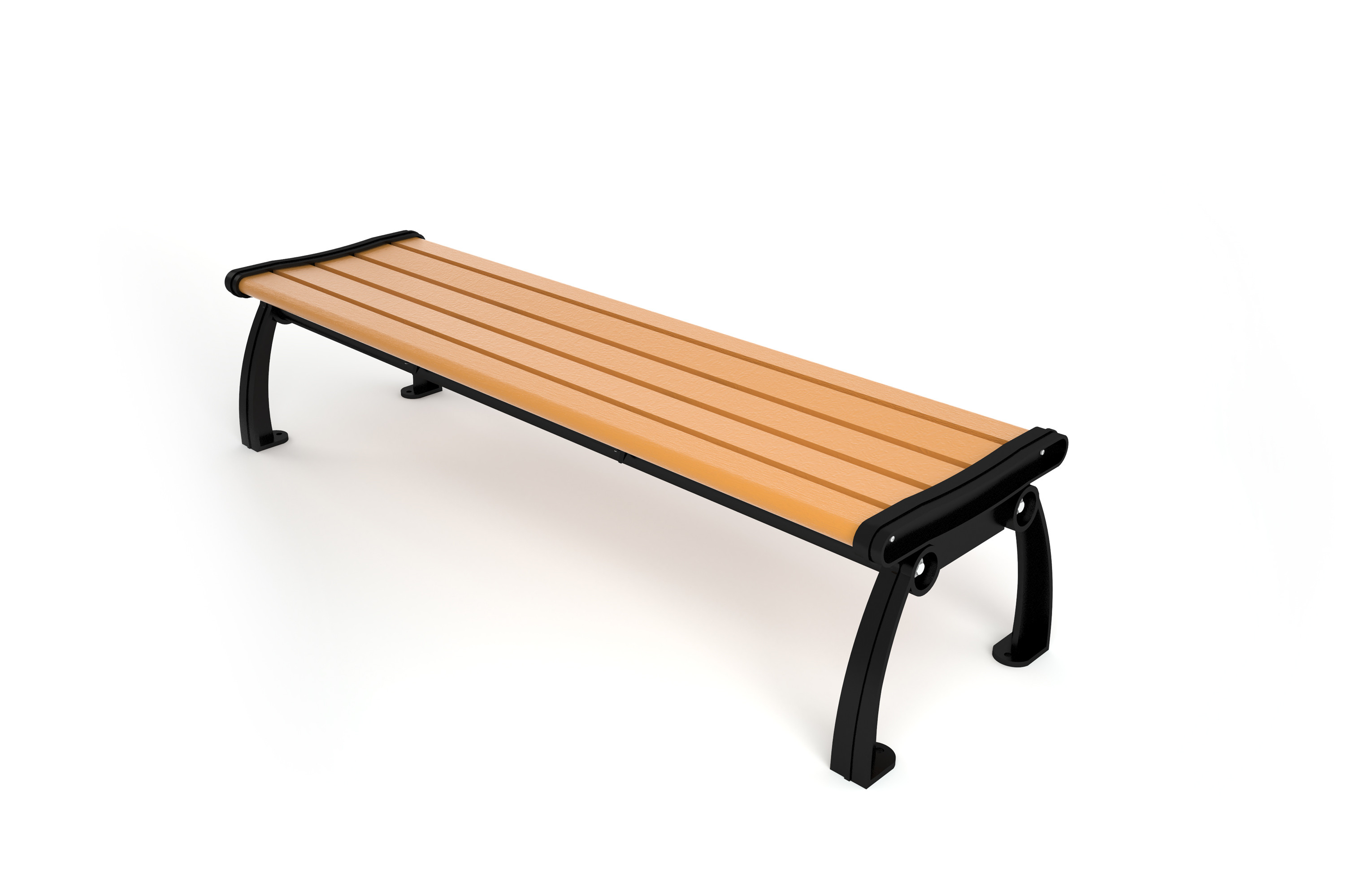 Heritage Recycled Plastic Backless Bench