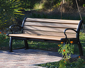 6-Ft. Heritage Recycled Plastic Bench