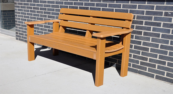 Elizabeth Recycled Plastic Bench