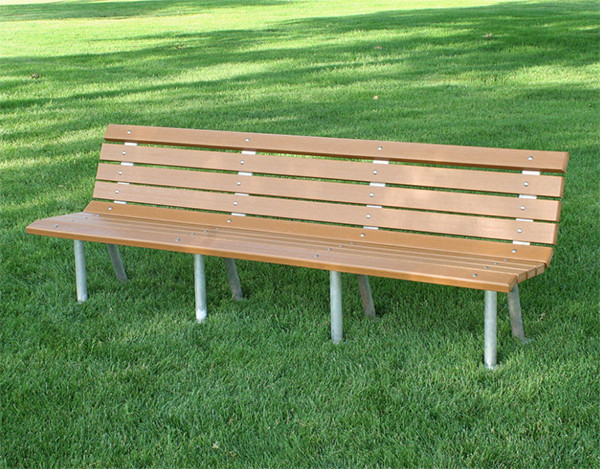 St. Pete Recycled Plastic Bench With Aluminum Base