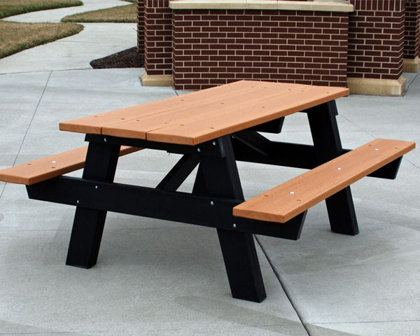A-Frame Recycled Plastic Picnic Table