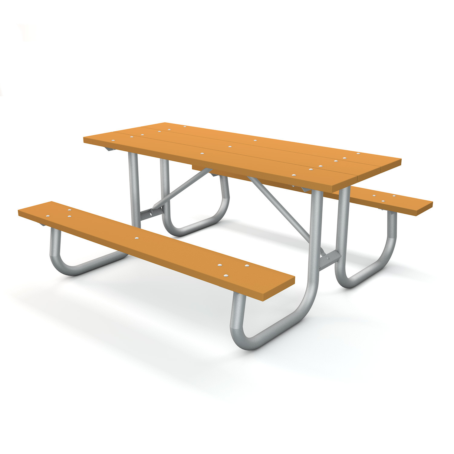 Recycled Plastic Picnic Table - Galvanized Fame