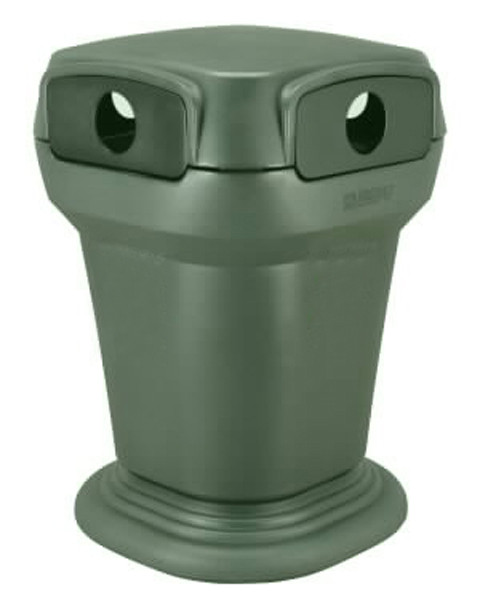 58-Gal. Heavy-Duty Plastic Progressive Litter Receptacle with Recycling Insert- Minimum Order of 10 R