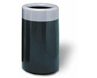 32-Gal. Ashton Series Open-Top Fiberglass Trash Receptacle - 20D x 32H