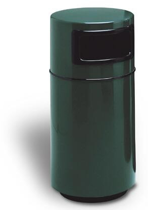 25-Gal. Cambridge Covered Top Fiberglass Trash Receptacle 1 Side Opening