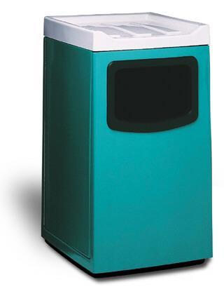 45-Gal. Largo Fiberglass Food Court Waste Receptacle - 24L x 24W x 46H
