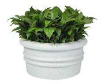 Sarasota Style Round Planter - Various Finishes & Colors 24Dx24H