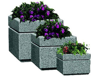 Boulevard Style Square Fiberglass Planters with Various Sizes, Finishes & Colors Available
