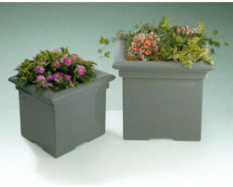 Traditional Fiberglass Planters with Various Sizes, Finishes & Colors Available