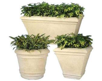 Cezar Series Round Fiberglass Planter