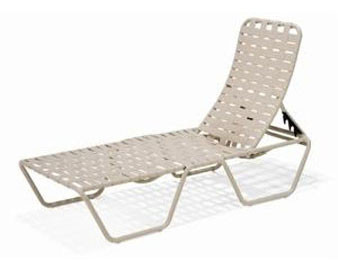 Lido Crossweave Collection Strap Chaise Lounge