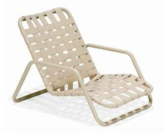 Lido Crossweave Collection Strap Sand Chair