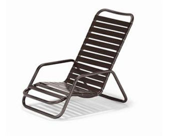Milan Collection Strap High Back Sand Chair