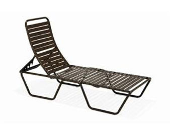 Milan Collection Strap Chaise Lounge with Sled Base
