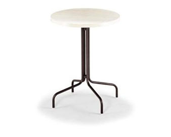 Slate Fiberglass Top Collection 36D Bar Table with Umbrella Hole