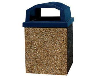 40-Gallon Receptacle with Raised Lid - Standard Color Series (Quick Ship)
