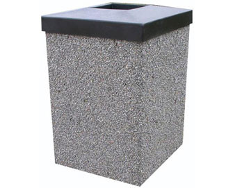 40-Gallon Receptacle w Low-Profile Lid - Standard Color (Quick Ship)