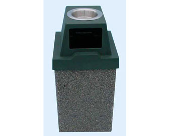 10-Gallon Receptacle with Ashtray - Standard Color Series