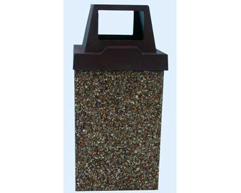 10-Gallon Receptacle with Raised Lid - Standard Color Series