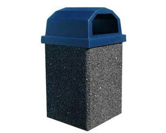 30-Gallon Receptacle with Raised Lid - Salt & Pepper Color Series