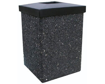 30-Gal. Receptacle with Low-Profile Lid - Salt & Pepper Color Series