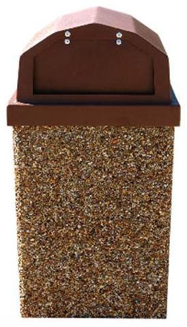 30-Gallon Receptacle & Raised Lid w 2 Spring Loaded Doors - Std. Colors