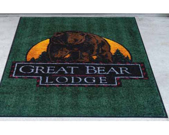 4'W Classic Impressions Logo Mat with SBR Rubber Backing
