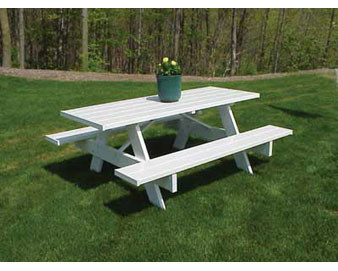 Wood-Reinforced PVC Picnic Table