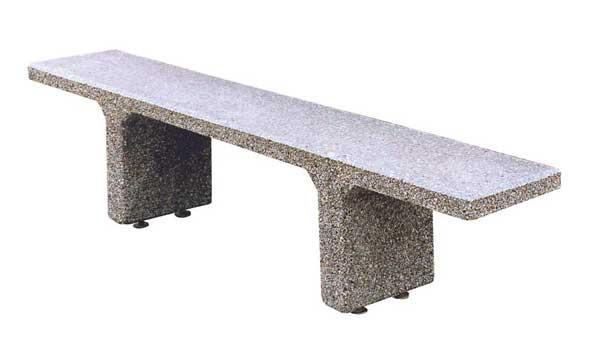 7-Ft. Sleek Concrete Bench