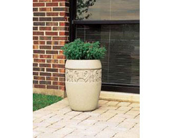 Decorative Banded Planter (W1) - 18Dx25H