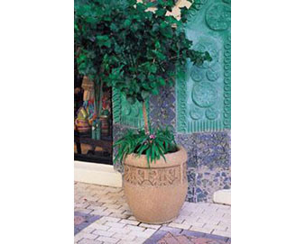 Decorative Banded Planter (W1) - 24Dx26H