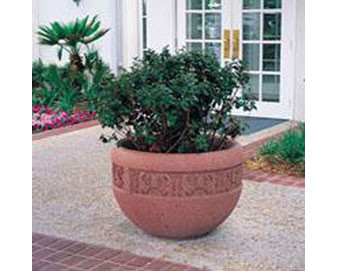 Decorative Banded Planter (W1) - 36Dx24H