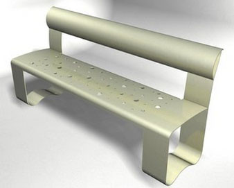 Select Series Steel Bench with Patterned Seat