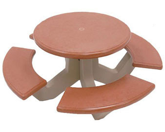 Polished Concrete Round Picnic Table