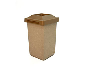 30-Gal. Square Receptacle with Pitch-In Lid