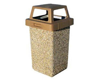 30-Gal. Square Receptacle with Four-Way Lid