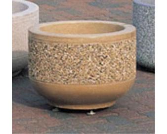 Designer Concrete Planters - 24Dx17H