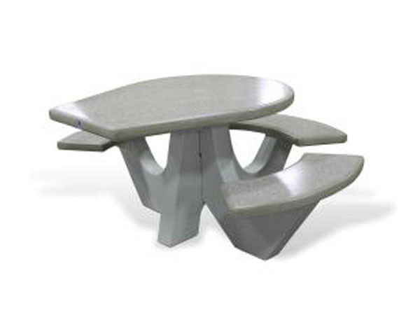Polished Concrete ADA Picnic Table