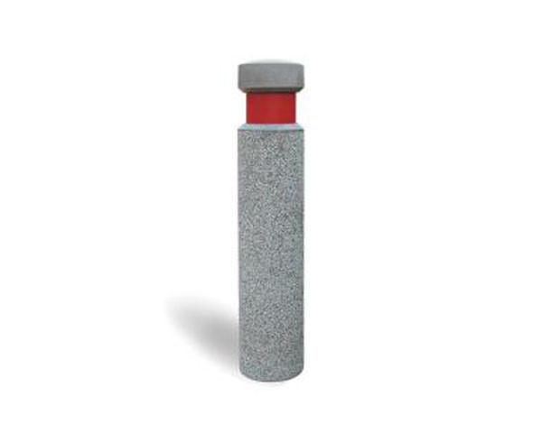 Sleek concrete bollard