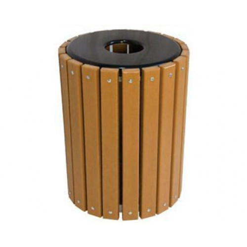 32 Gallon Recycled Plastic Trash Receptacle