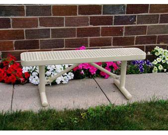 4-ft Premier Champion Plastisol Coated Flat Bench